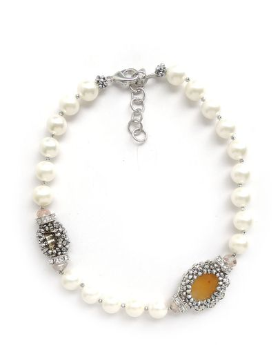 NECKLACE 2640 WHITE PEARL