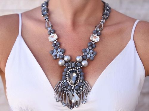 NECKLACE 2618 GRAY
