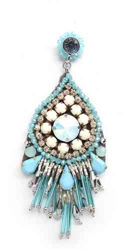 EARRING 1566 LIGHT BLUE