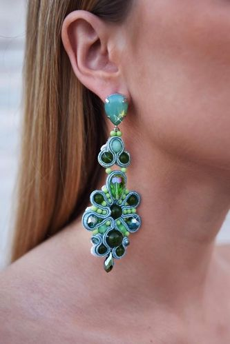 EARRING 2459 GREEN