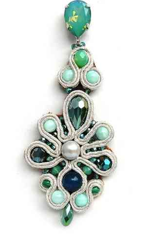 EARRING 2459 OPAL GREEN