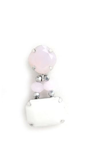 EARRING 2632 PINK+WHITE