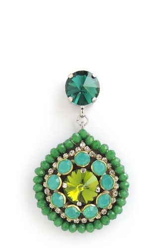 EARRING 1117 GREEN