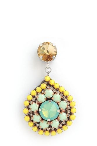 EARRING 1117 YELLOW+GREEN