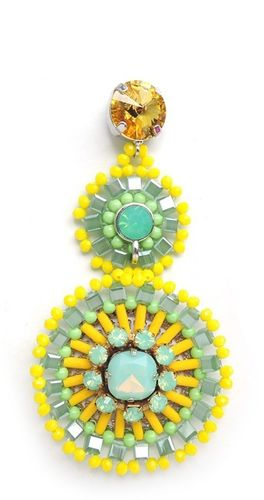 EARRING 1584 YELLOW+GREEN