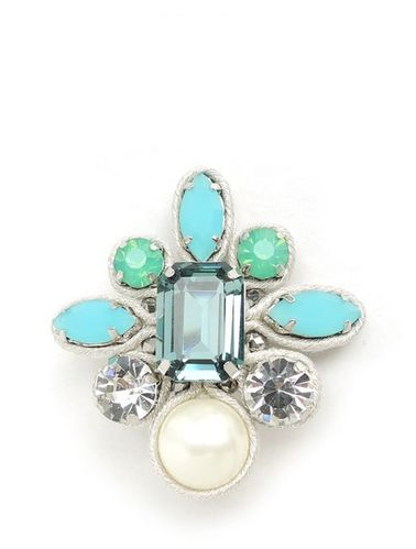 EARRING 1654 TURQUOISE CLIP