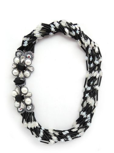 NECKLACE 2595 BLACK+WHITE