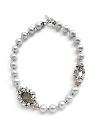 NECKLACE 2640 GRAY PEARL