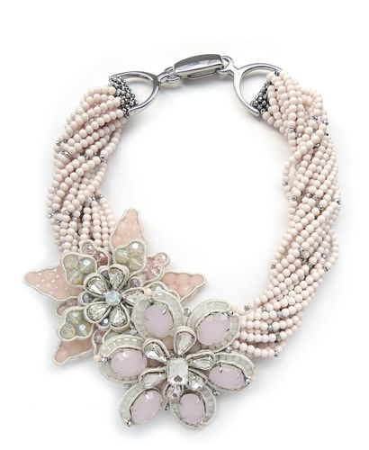 NECKLACE 2558 PINK+GRAY