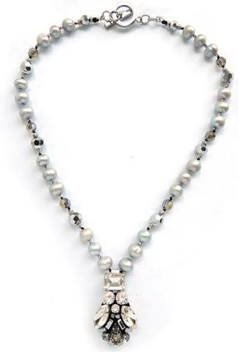 NECKLACE 2816 GREY PEARL
