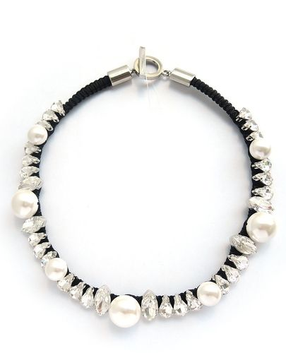 NECKLACE 4278 WHITE PEARL