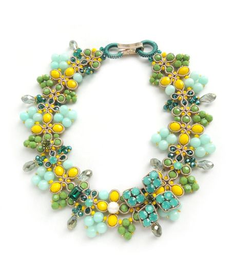 NECKLACE 2673 GREEN AND YELLOW