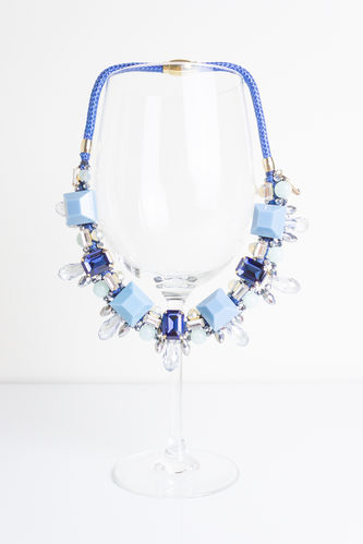 NECKLACE 3341 LIGHT BLUE