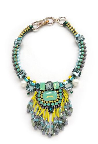 NECKLACE 2739 GREEN AND YELLOW