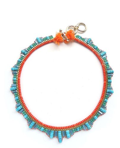 NECKLACE 3010 TURQUOISE AND ORANGE