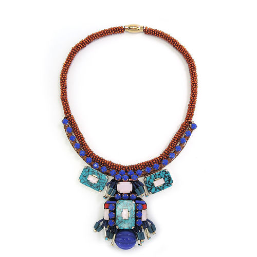 NECKLACE 3624 BLUE