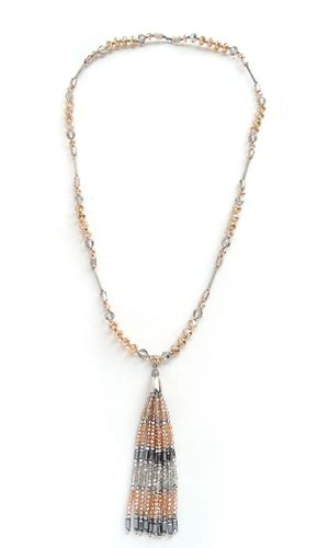 NECKLACE 377 CHAMPAGNE LONG