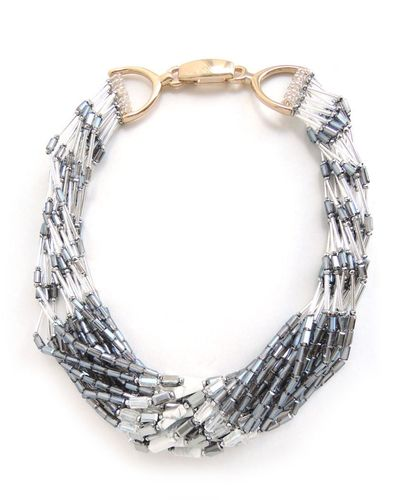 NECKLACE 3006 WHITE AND SILVER