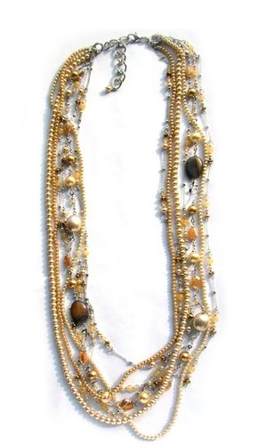 NECKLACE 1568 CHAMPAGNE -LONG