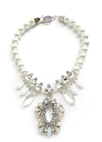 NECKLACE 3940 WHITE AND SILVER