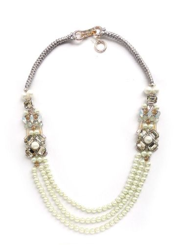 NECKLACE 2623 WHITE PEARL-LONG