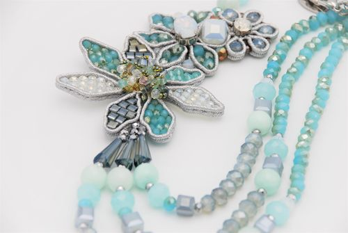 NECKLACE 1595 LIGHT BLUE