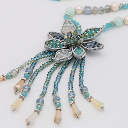 NECKLACE 1596 LIGHT BLUE