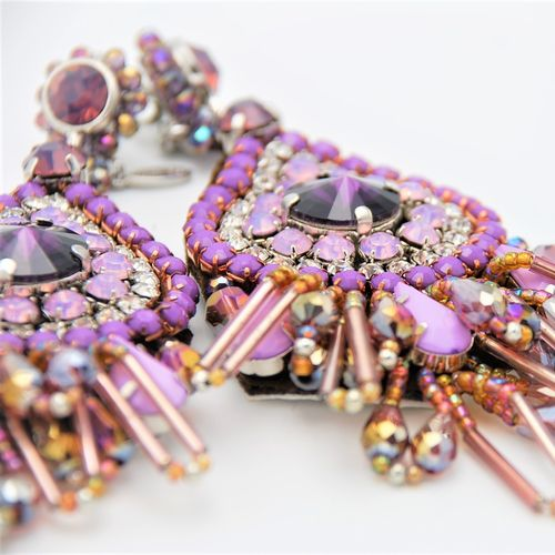 EARRING 1566 PURPLE
