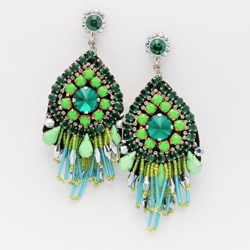 EARRING 1566 GREEN