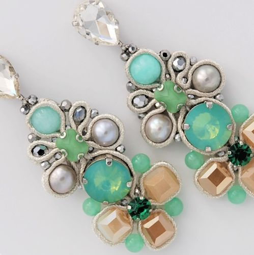 EARRING 2089 AQUA GREEN