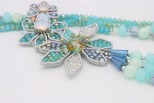 NECKLACE 1597 LIGHT BLUE