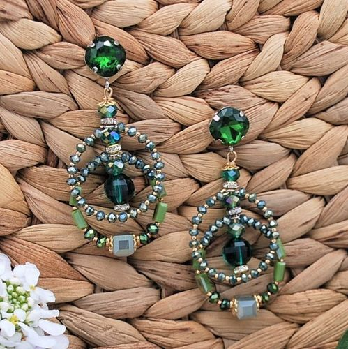EARRING 4225 GREEN