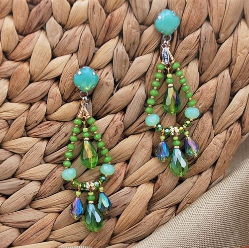 EARRING 4125 GREEN