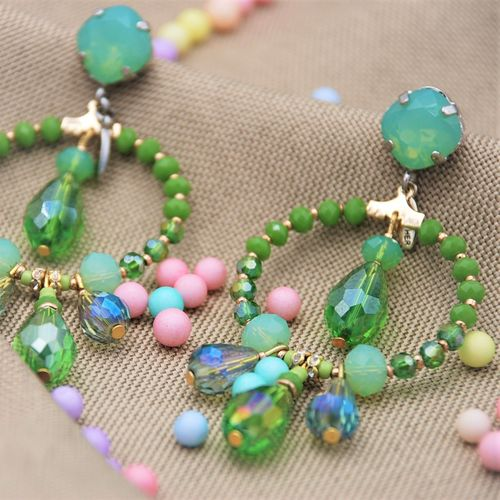 EARRING 4325 PERIDOT GREEN
