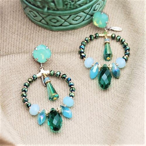EARRING 4325 EMERALD GREEN