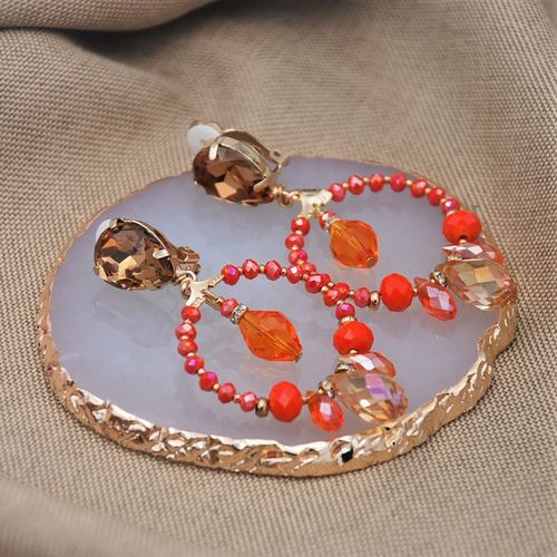 EARRING 4325 ORANGE